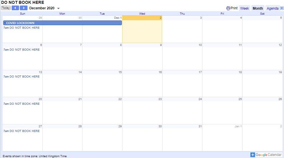 booking calendar